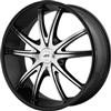 AMERICAN RACING 897 GLOSS BLACK/MACHINED CENTER CAP 489L177-BAL