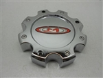 Moto Metal Red Logo 845L170 Chrome Center Cap MOTO METAL 955/956 8 LUG CHROME CENTER CAP