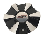 DIP Wheels D38 Vibe C10D38B03-CAP Black and Machined Center Cap