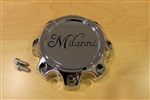 "Milanni 446 Kool Whip 8 Lug Chrome Rim Center Cap C446-8S-CAP 1-5/8"" Tall"