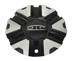 DIP Wheels C614606CB7 Black and Machined Center Cap