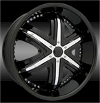Massiv Wheels 906 Black Center Cap CAPM-209