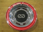 Enkei Racing Chrome Red Ring Snap In Center Cap Centercap CC-074