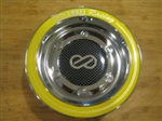 Enkei Racing CDR-9 RS6 RS5 Chrome Yellow Ring Snap In Center Cap CC-074