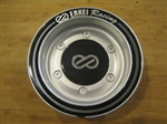 Enkei Racing Silver Black Ring Snap In Center Cap Centercap CC-074