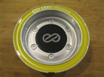 Enkei Racing Silver Yellow Ring Snap In Center Cap Centercap CC-074