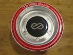 Enkei Racing CDR-9 RS6 RS5 Silver Red Ring Snap In Center Cap CC-074