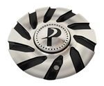 Phino Wheels PW12 CSPW12-2A Black and Machined Center Cap