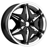 Akuza 712 Big Papi Wheel Black Center Cap EMR0712-CAR-CAP