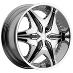 Akuza 712 Big Papi Wheel Chrome Center Cap EMR0712-TRUCK-CAP