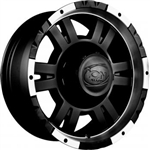 Ion 182 Black Center Cap for 16x8 Wheels