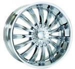 Karizzma KR07 Helios Chrome Center Cap 24""