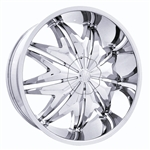 "Massiv Krystal 912 Chrome Center Cap 24"" 26"""