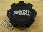 Moto Metal 909 / 957 / 959 Black Wheel Rim Center Cap MO909B8165B HE835B8165-AA