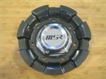 MSR 105 Gunmetal / Black Logo Wheel Rim Center Cap