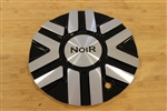 Noir Pinnacle Jet Machine Black Wheel Rim Metal Center Cap N01-AL-CAP