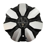 Massiv Wheels PD-CAPSX P7032-AL Black and Machined Wheel Center Cap