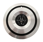 Massiv Wheels PD-CAPSX-P7045-24AL Black and Machined Center Cap