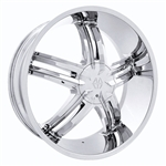 "Massiv Cyclone 914 Chrome Center Cap 24"" 26"" PD-CAPSX-P914-2495"