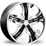 "Pinnacle Venice Replacement Black Inserts 22"" 22x9.5 (5 Pieces)"