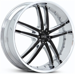 Status 820 Chrome Fang 20x8.5 Center Cap