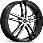 Status 820 Black Fang 20x7.5 Center Cap