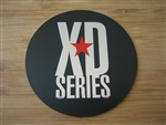 "KMC XD Series Monster 778 Matte Flat Black Logo Sticker Only 3 1/16"" Diameter"