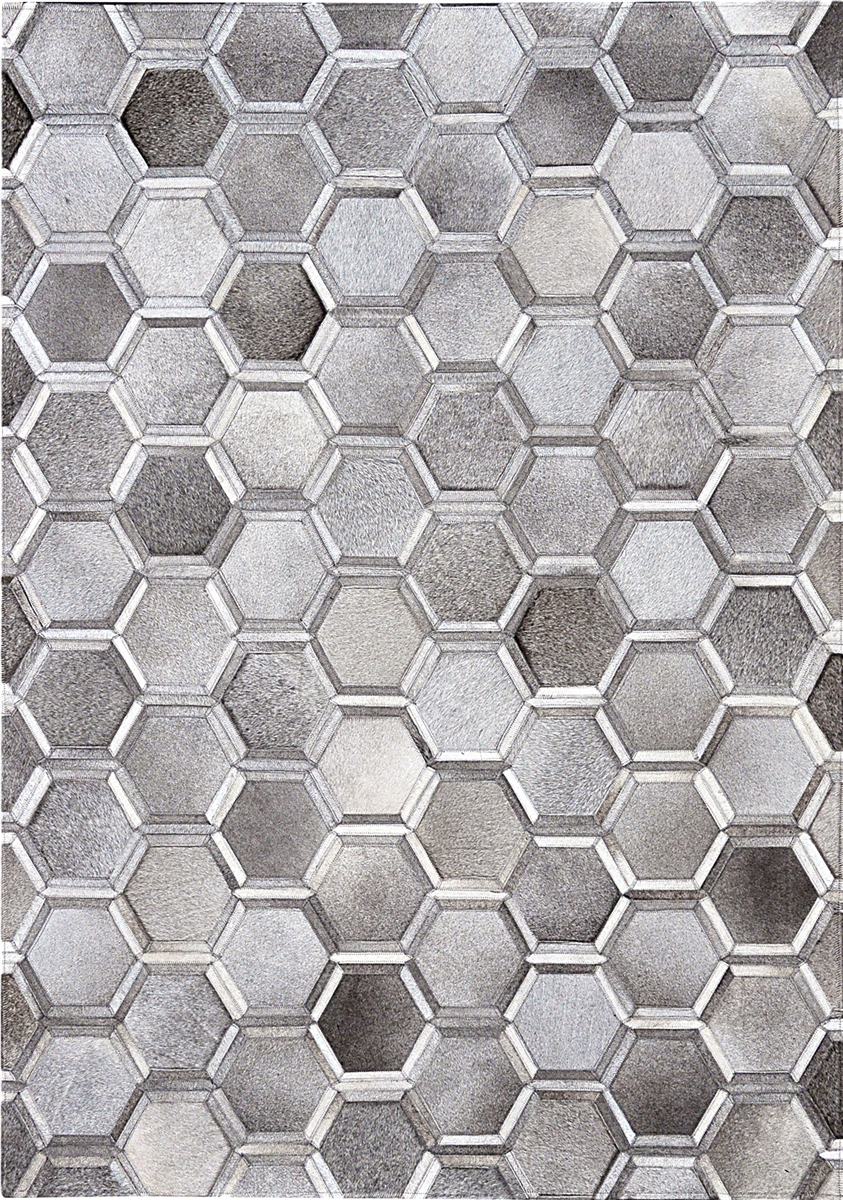 Grey Patchwork Natural Cow Hide Rug Mh 239