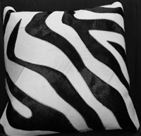 "Black/Cream Hide Pillow 18"" x 18"" MH25100"