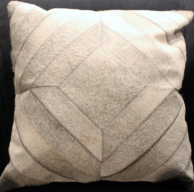 "Grey Hide Patchwork  Pillow 18""x18"" MH25200"