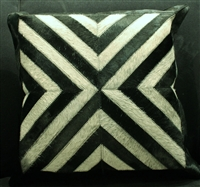 Black/Grey Cow Hide Pillow 18x18 MH25300