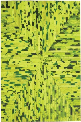 Green Cow Hide Rug MH-256