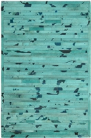 Turquoise Cow Hide Rug MH-257