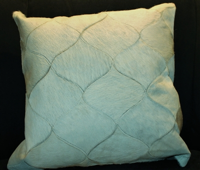 "Cream/Off White Cow Hide Pattern Pillow 18""x18"" MH26900"