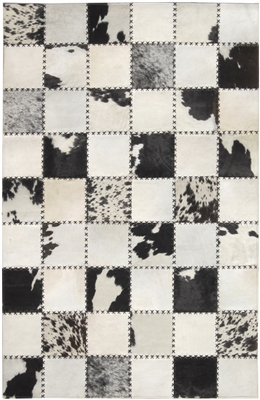 Black/Cream Cow Hide Rug MH-272