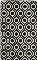 Black/Cream Cow Hide Rug MH-274