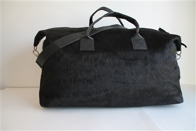 Black Cow Hide Weekend Duffel - Lg