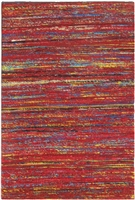 Red Sari Silk Rug MS-261