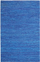 Blue Sari Silk Rug MS-263