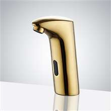 Gold Automatic Sensor Touchless Basin Faucet