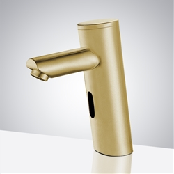 Fontana Brushed Gold Commercial Thermostatic Automatic Sensor Solid Brass Faucet