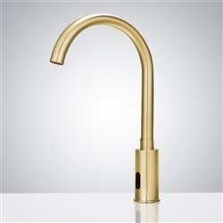 Fontana Commercial Automatic Brushed Gold Motion Sensor Faucet
