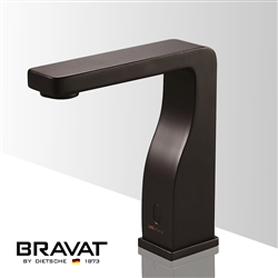 Bravat Commercial Oil Rubbed Bronze Automatic Hands Free Sensor Faucet