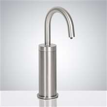 Fontana Atlanta Commercial Brushed Chrome 11 Inch Deck Mount Touchless Automatic Soap Dispenser