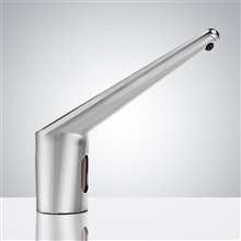 Fontana Commercial Automatic Infrared Long Neck Chrome Sensor Soap Dispenser