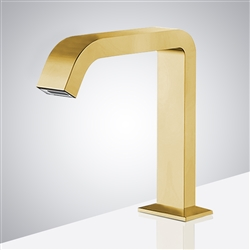 Fontana Commercial Brushed Gold Touch less Automatic Sensor Hands Free Faucet
