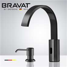 Fontana Commercial Dark Oil Rubbed Bronze Touch less Automatic Sensor Faucet & Manual Soap Dispenser