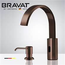 Fontana Commercial Light Oil Rubbed Bronze Touch less Automatic Sensor Faucet & Manual Soap Dispenser