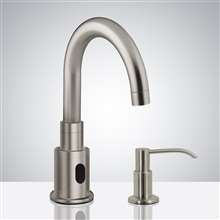Fontana Commercial Brushed Nickel Touchless Automatic Sensor Faucet & Manual Soap Dispenser