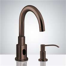 Fontana Commercial Light Oil Rubbed Bronze Touchless Automatic Sensor Faucet & Manual Soap Dispenser
